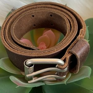 G.H. Bass & Co Double Prong Leather Belt Brown